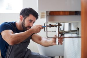 Homeowner upgrading his bathroom