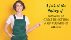 A woman wearing overalls pointing